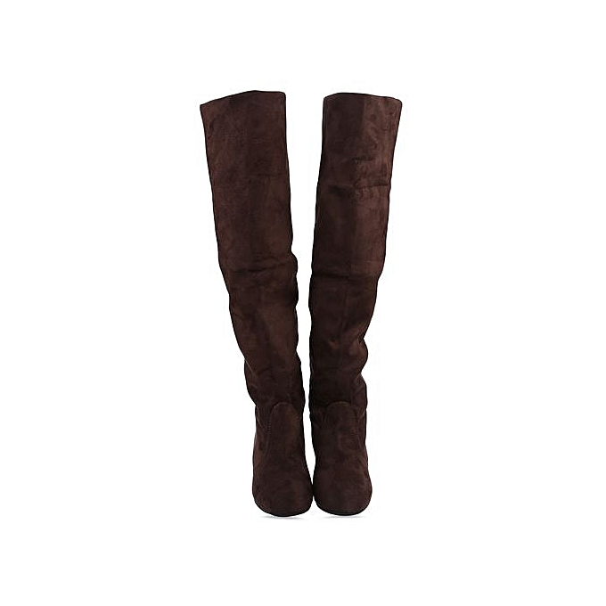 Fashion Old Classical Style Solid Color Round prix Toe Knee Boots For WoHommes  à prix Round pas cher  | Jumia Maroc 69c757