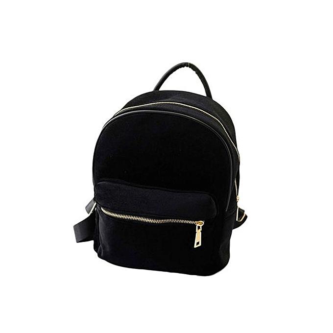 mode Tectores femmes or velours petit sac à dos sac à dos School Book Shoulder sac BK à prix pas cher