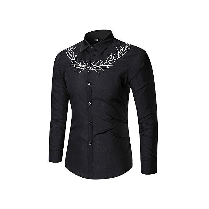 Other Spbague  Hommes& 039;s Leisure Embroidery manche longue Shirt à prix pas cher