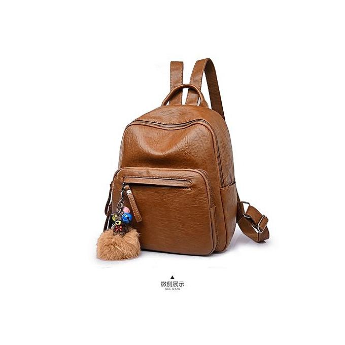 Generic Ladie's sac à dos School Multiple Intervals Shoulder Oxford Cloth voyage sac-marron à prix pas cher