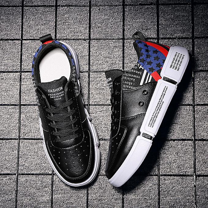 Fashion Fashion blanc chaussures low to help hommes chaussures casual sports chaussures-3 noir à prix pas cher    Jumia Maroc