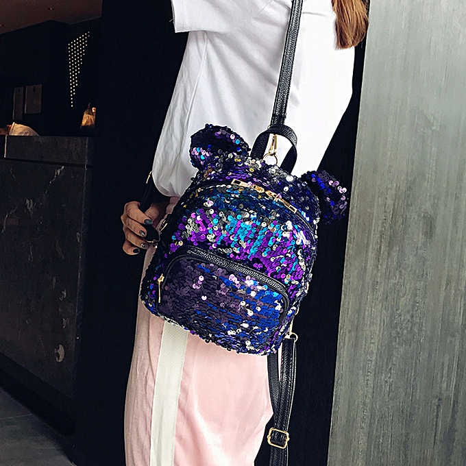 Fashion Singedan Shop Fashion Lady Sequins School Backpack Satchel Girls Student Travel Shoulder Bag à prix pas cher