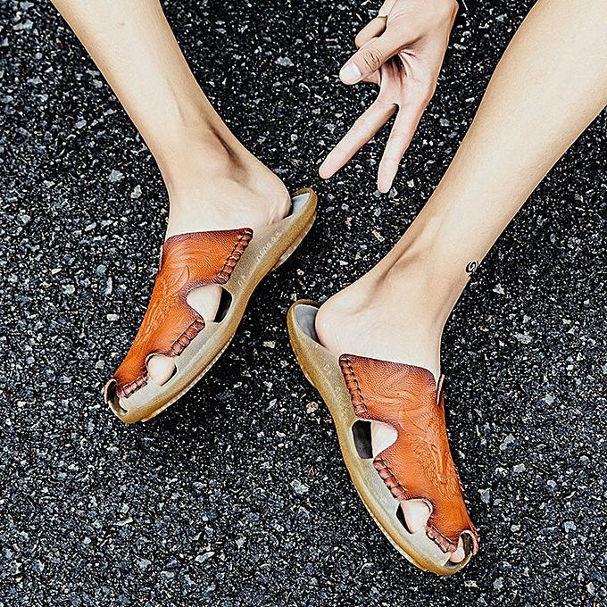 Fashion jiuhap store Big Taille Sandals Men's British Fashion Cool Breathable Beach chaussures Leisure chaussures à prix pas cher