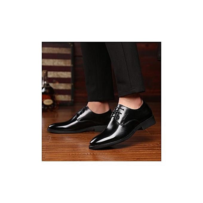 Fashion New Breathable  's Leather Shoes  Shoes 's Business Dress Shoes  Leather  's Shoes-BLACK à prix pas cher  | Jumia Maroc e46c18