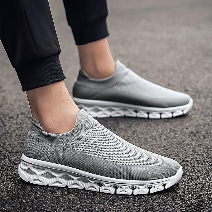 Fashion jiahsyc store Men Solid Couleur Breathable Woven Lightweight baskets Low-Top Casual Socks chaussures à prix pas cher