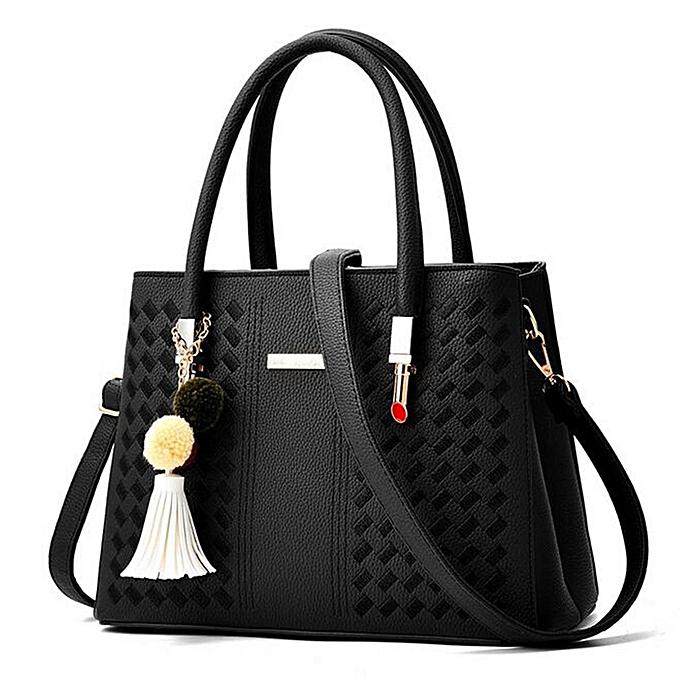 mode femmes cuir Handsac Shoulder Lady Cross Body sac Tote Messenger Satchel bourse noir à prix pas cher