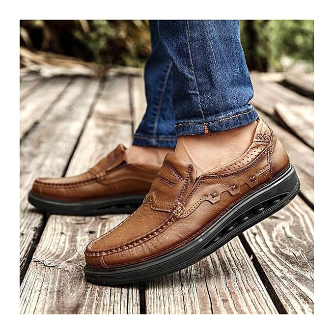 Fashion Fashion   Fashion  Genuiner Leather Comfy Wearable Slip On Casual Flats Shoes-EU à prix pas cher  | Jumia Maroc 346646