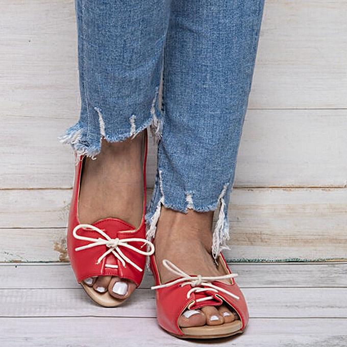 Fashion TEC femmes SandalsLace-Up Casual Rohomme chaussures Fish Mouth Beach Sandals à prix pas cher