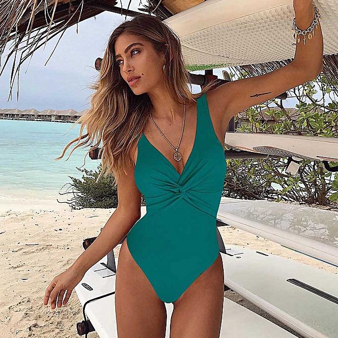 Autre New Arrival Swimsuit femmes Vintage Bathing Suits Taille Swimwear Beach Padded Print Swim Wear Solid Monokinis(TE170175) à prix pas cher