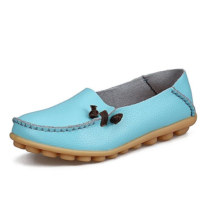 Other Stylish Female Genuine Leather Bean chaussures Flat Non-skid Nurse chaussures  -Moon à prix pas cher    Jumia Maroc