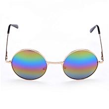 Nouveau mode unisexe lunettes de soleil lunettes Vintage Style Casual forme  ronde lunettes de soleil ce39234e44a1
