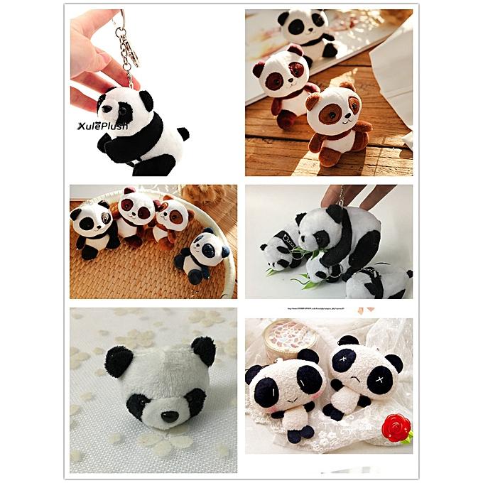 Autre FULL ALL Pandas , Taille 4 11CM Panda DOLL , Plush Stuffed Key chain TOY & Gift Pendant Plush Toys , Wedding Bouquet TOY DOLL(1piece 8cm) à prix pas cher