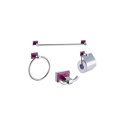 SANILI Accessoire de salle de bain La Rose Blanche 4PCS à prix pas ...