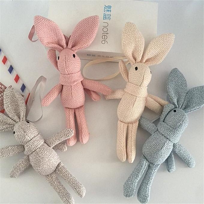 Autre NEW Rabbit Plush , Animal Stuffed Dress Rabbit Key chain TOY, Kid's Party Plush TOY , Bouquet Plush Dolls(marron) à prix pas cher