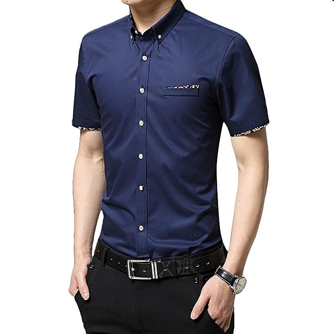 Fashion Casual Business Slim Fit Stylish Button down Designer Shirts for Men à prix pas cher