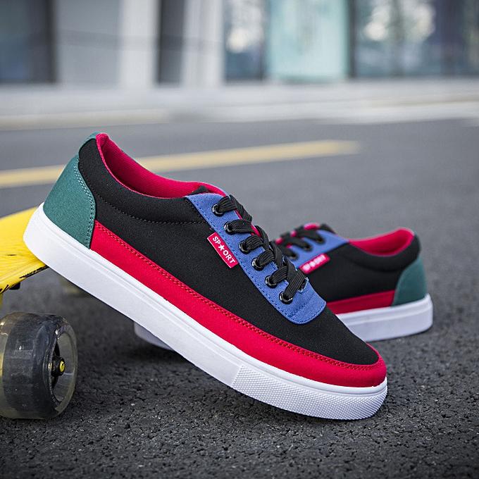 Other mode nouveau été Korean mode Hommes's chaussures Leisure toile chaussures Cloth-rouge à prix pas cher