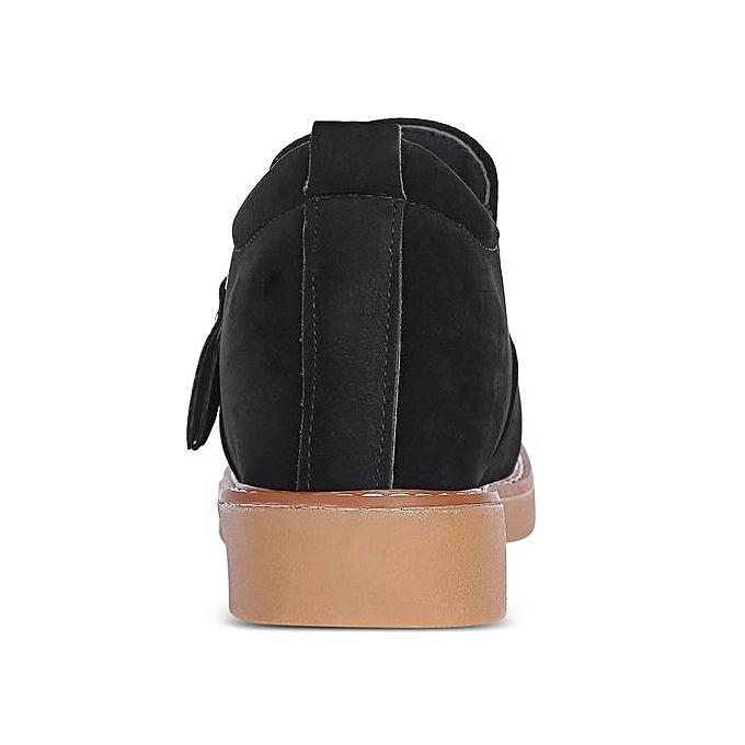 Fashion Casual Round Toe Zipper Suede Suede Suede Flat Heel Loafers WoHommes  Shoes à prix pas cher  | Jumia Maroc 3e5c2d
