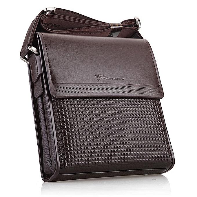 Other 2019 Hot Sale Men's Business Shoulder Bags Luxury Designer Handbag Casual Men's Crossbody Bag Large-Capacity Messenger Bag(marron) à prix pas cher