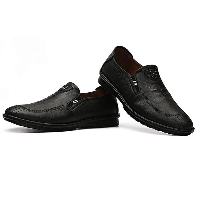 Fashion Fashion   Soft Microfiber Microfiber Soft Leather Low-top Slip On Casual Shoes Loafers-EU à prix pas cher  | Jumia Maroc e95bc1