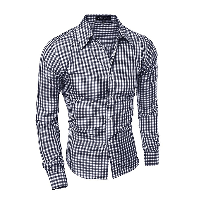 Other New Stylish Casual Men's Wear Long Sleeves Plaids Shirt à prix pas cher