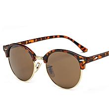 1ddadb376 ريترو جولة النظارات الشمسية النساء الرجال العلامة التجارية تصميم برشام  الإناث نظارات شمسية الرجال Oculos دي