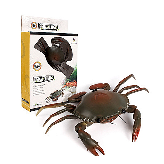 Generic Infrarouge Remote Control Realistic Mini Crab RC Prank Insect Svoiturey Trick Toy GN à prix pas cher