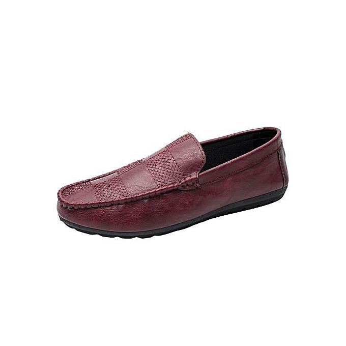 Fashion Jiahsyc Store New Style Fashion Men Casual Comfortable Breathable baskets Flat Slacker chaussures-Wine à prix pas cher