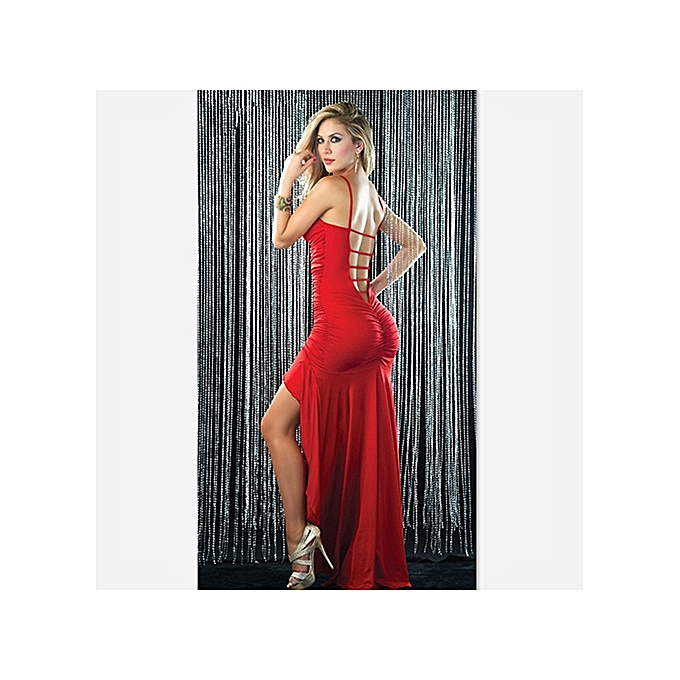 OEM New Plus Taille Dress Wohommes Sexy Sling Dress with Strapless Cocktail Dress Evening Dress -rouge à prix pas cher