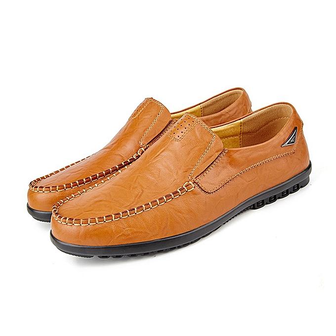 Generic TB Autumn Décontracté chaussures Trend Hommes's Peas cuir Lazy rouge marron-rouge marron à prix pas cher