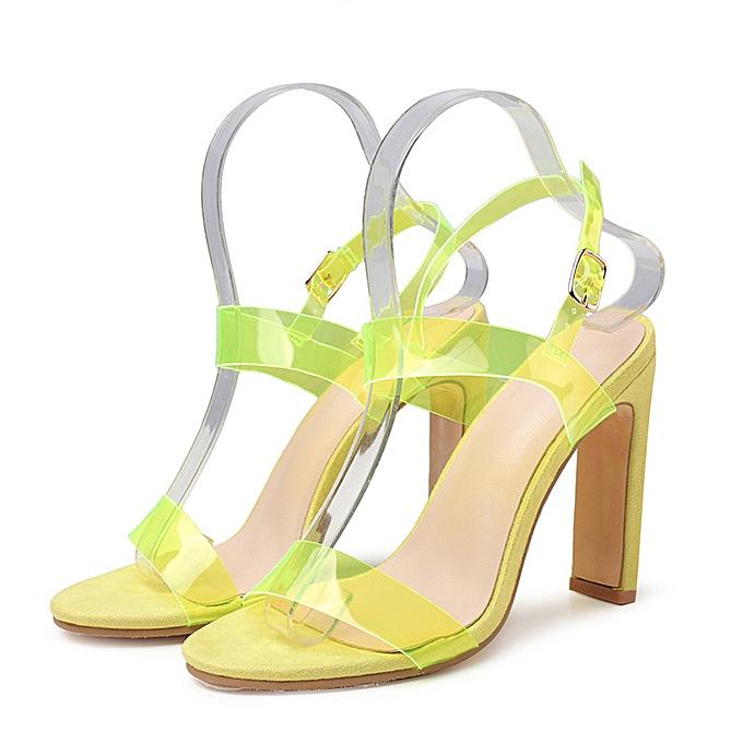 Fashion Fluorescent large Taille transparent talons hauts vert à prix pas cher    Jumia Maroc