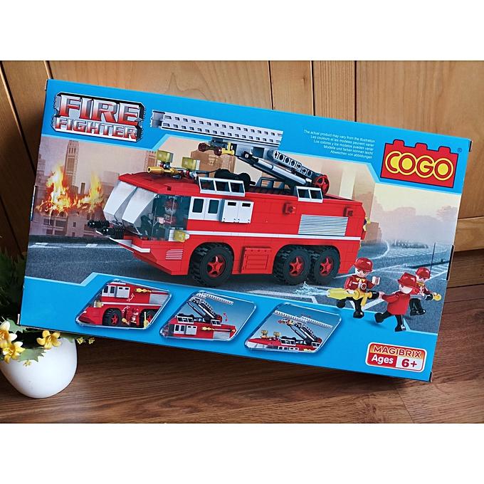 Cogito Jouet Ensemble de Blocs de Construction de Camion de Pompier avec échelle pour Urgence d'incendie à prix pas cher