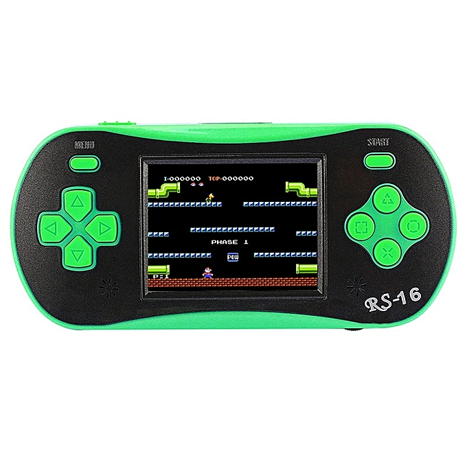 UNIVERSAL RS-16 260 in 1 Classic Games 8-bit Arcadsic Graphics Handheld Game Console with 2.5 inch TFT Couleur Screen(vert) à prix pas cher