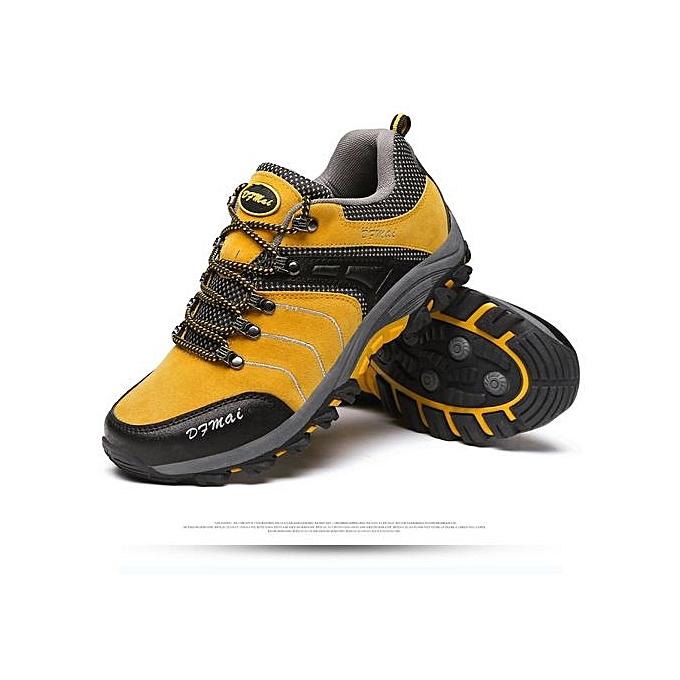 Fashion  's 's  Hiking Shoes Winter Anti-skidding Trekking Shoes  rs Comfortable Travelling Shoes-Jaune  à prix pas cher    Jumia Maroc cb0ae4
