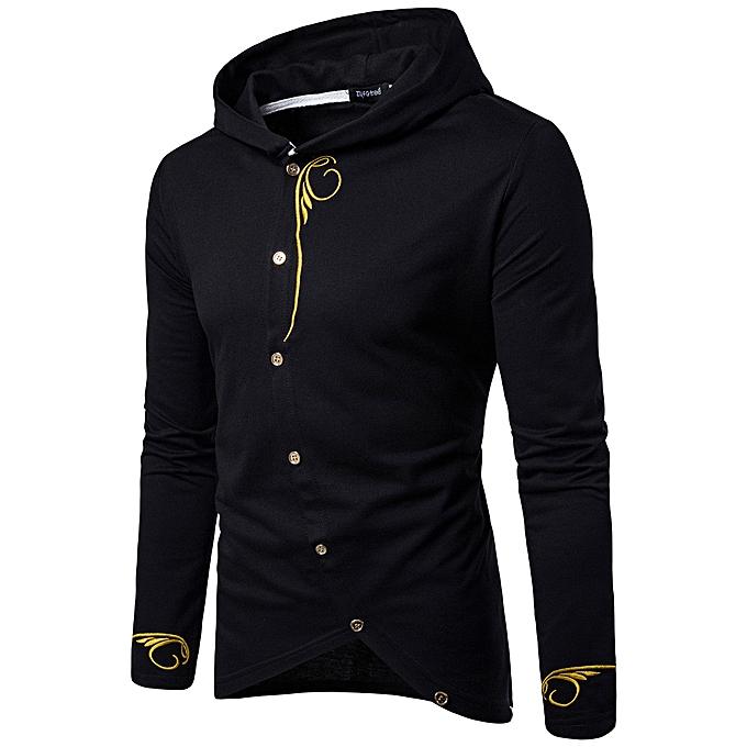 mode Hommes manche longue sweat à capuche Solid Couleur Coat veste Outwear Sport hauts BK XL à prix pas cher