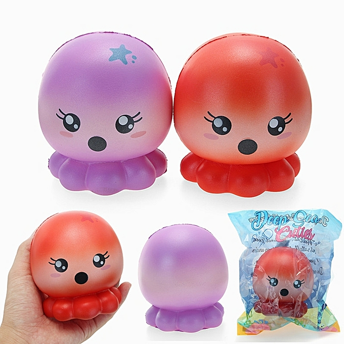 UNIVERSAL Cucravate Creative Squishy Octopus 10cm SFaible Rising  Packaging Collection Gift Decor Toy-rouge à prix pas cher