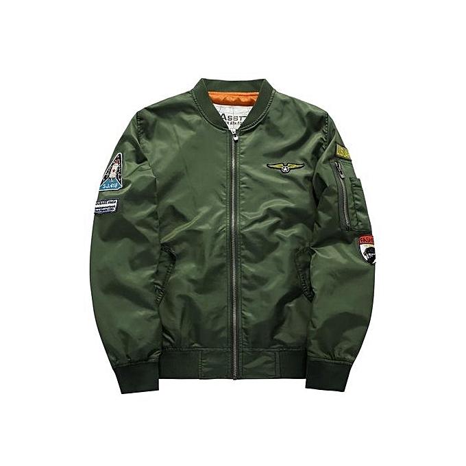 8326e15948 Générique Plus Size Pilot Bomber Jacket (Army Green)