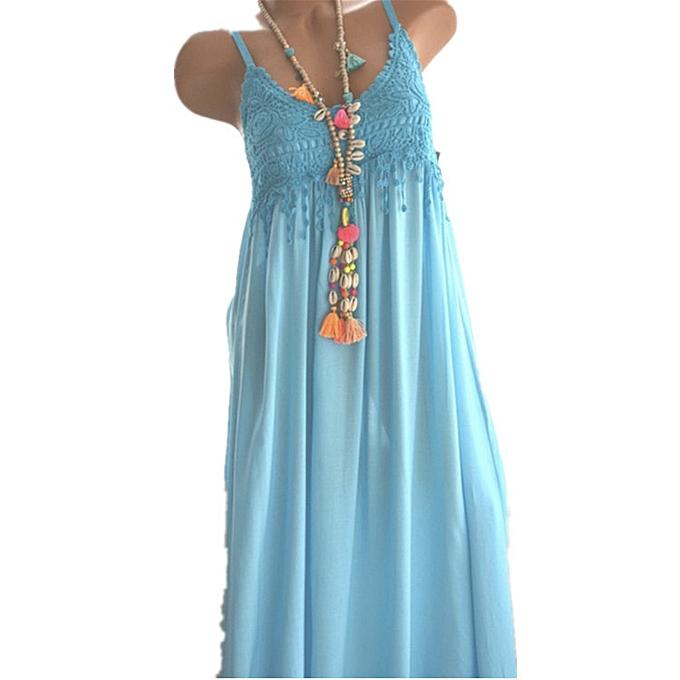 mode quanxinhshang femmes& 039;s mode Sleeveless été Tassel Cotton mode Long Robe à prix pas cher