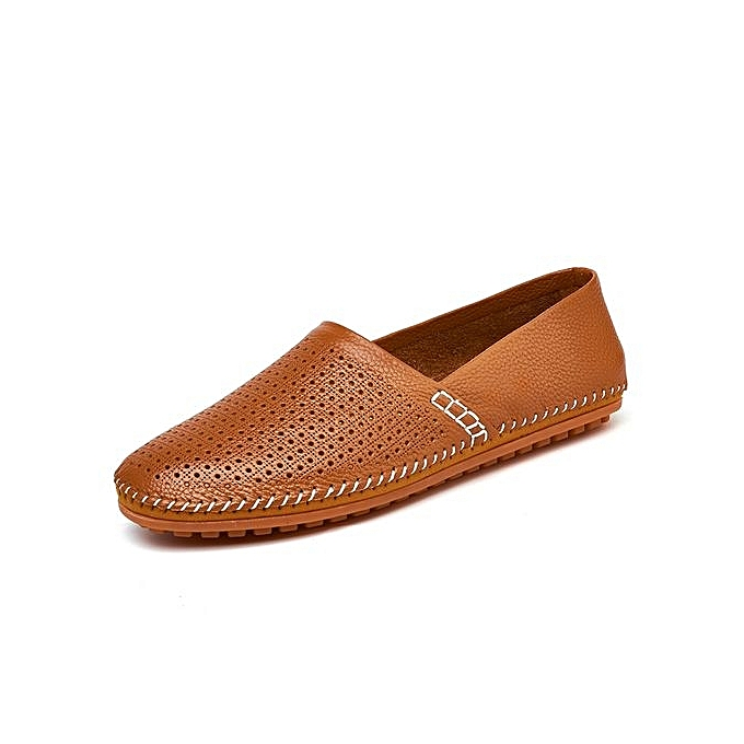 Fashion Men's Soft Cut-Out Cow Leather Loafer Flats Comfy Driving chaussures à prix pas cher    Jumia Maroc