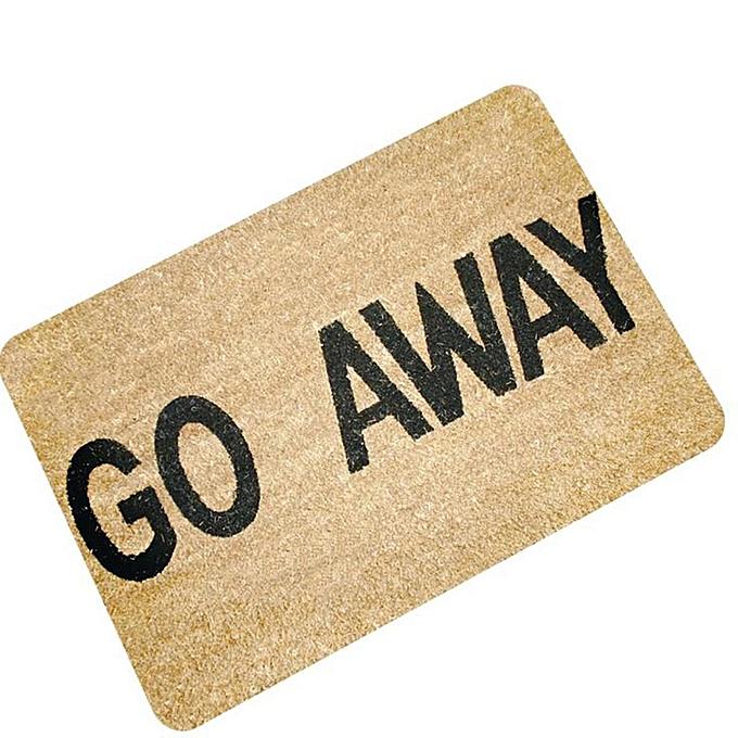 UNIVERSAL Letters Funny Door Mat Welcome Home Entrance Floor Rug Non-slip Doormat Carpet  go away à prix pas cher