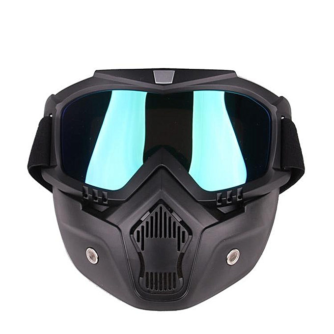 Autre Detachable Motorcycle Tactical Face Goggles Mask Moto Wind Dust Proof Racing Cycling Helmet Prougeective Goggles Mask Anti UV r20( Couleurful) à prix pas cher