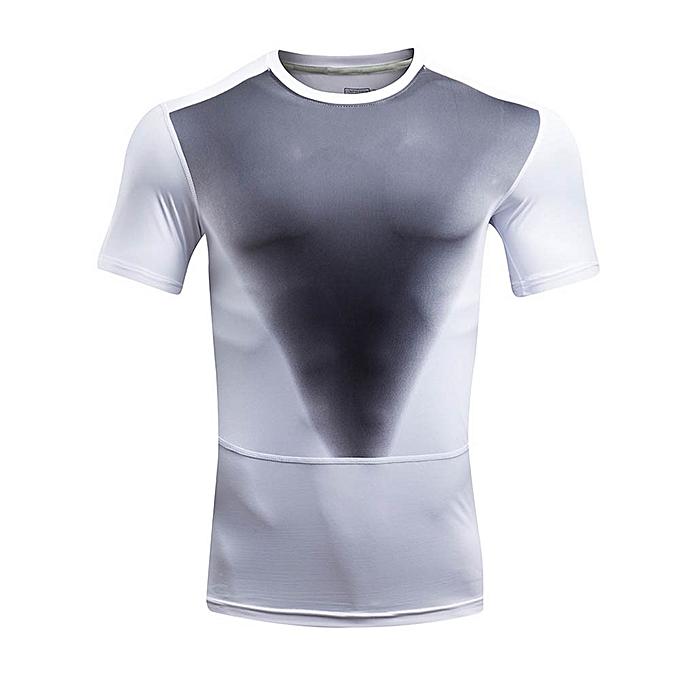 mode Pour des hommes Tee Shirt Print O Neck T-Shirt Sports manche courte Tees WH L5 à prix pas cher