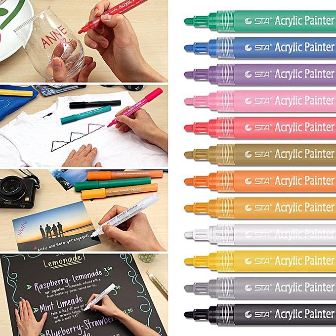 Ageneral Hiamok Acrylic Paint Pen for Ceramic Painting Perhommeent Acrylic Marker Painting Pens à prix pas cher