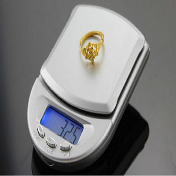 Other Mini 500G Digital Pocket Scales Jewellery Jewelers bleu Lcd Display 500g  0.1G Balance Portable Electronic Weight Scale( ) à prix pas cher
