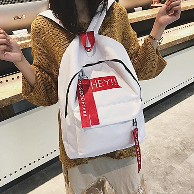 mode Tcetoctre Unisex toile Print Two Set Double Shoulder sac Handsac sac à dos Zipper sac-blanc à prix pas cher