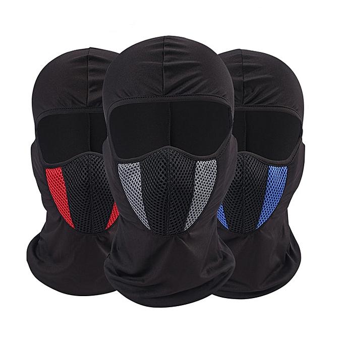 Autre Summer Breathable Motorcycle Mask Outdoor Dustproof Balaclava Motorbike Face Hood Windproof Bike Cycling Ski Mask( bleu) à prix pas cher
