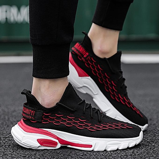 Other nouveau mode Hommes's respirant FonctionneHommest chaussures en volant Weave Sports chaussures -noir à prix pas cher