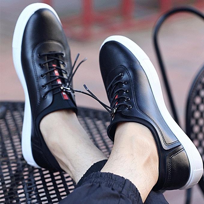 bleuLife Korean Style Men's Horn Casual chaussures - noir à prix pas cher