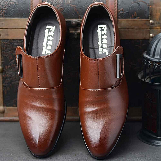 Fashion Fashion Business Leather chaussures for Men Casual Pointed Toe chaussures Male Suit chaussures à prix pas cher