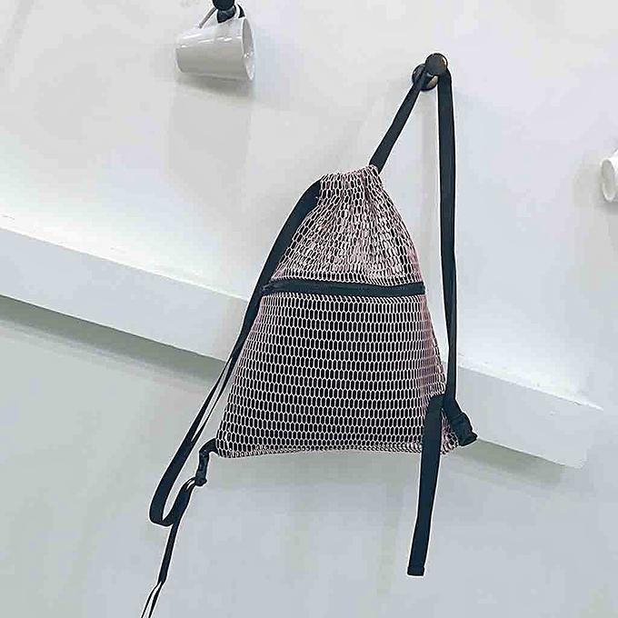 Fashion Singedan Shop Unisex Drawstring backpack mesh cloth pocket students backpack Sport Beach Bag à prix pas cher
