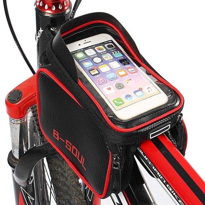 UNIVERSAL Cycling Bicycle Bike Frame Pannier Saddle Front Tube Bag Double Pouch Bag Holder à prix pas cher